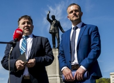 UUP leader Robin Swann, left, who this week announced that he was stepping down.