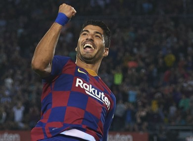 Barcelona striker Luis Suarez.