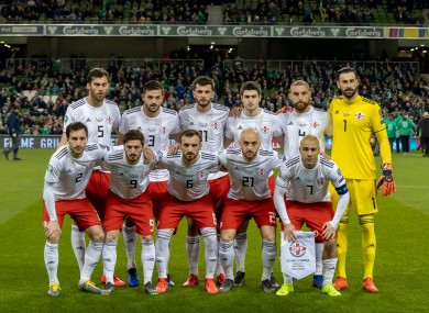 The Georgia team (file pic).