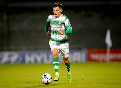 Trevor Clarke playing for Shamrock Rovers earlier this year.