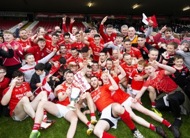 The Trillick squad celebrate their victory in Tyrone.