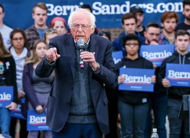 Presidential candidate Bernie Sanders.