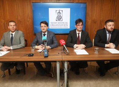 The Irish Medical Organisation held a press briefing last night