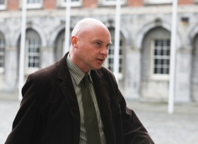 Garda whistleblower               Nicky Keogh arriving at the Disclosures Tribunal at Dublin               Castle.