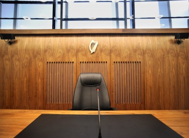 File photo of a courtroom in the Criminal Courts of Justice, Dublin city.