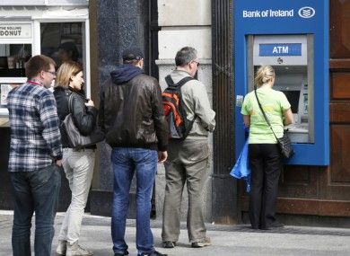 File photo of Bank of Ireland ATM.