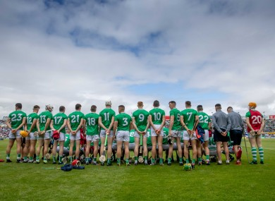 A view of the Limerick squad ahead of this year's Munster final.