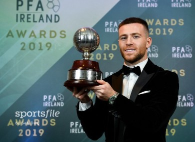 Jack Byrne landed the top gong at the PFAI annual gala.
