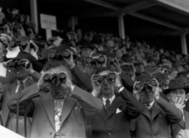 Henri Cartier-Bresson photograph of a racecourse.