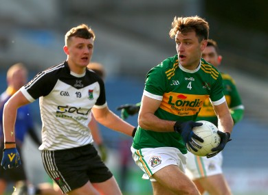 Cathal McGeever in possession for Clonmel Commercials.