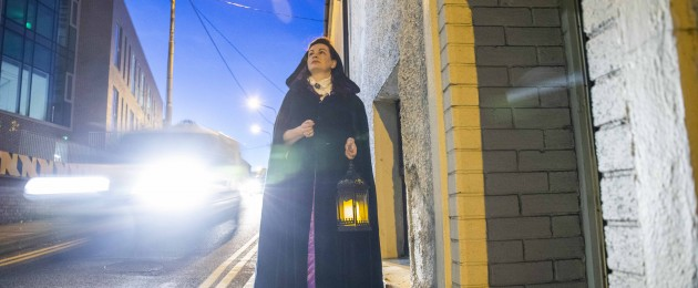 Annette Buckley pictured launching the Nano Nagle Place Christmas Programme in costume for a Christmas Carol.