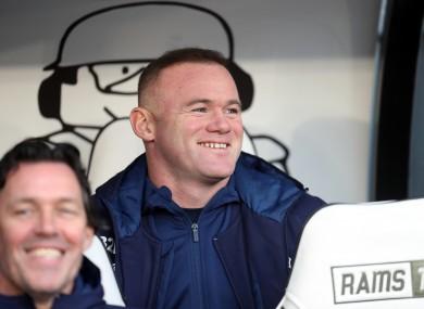 Wayne Rooney is all smiles.