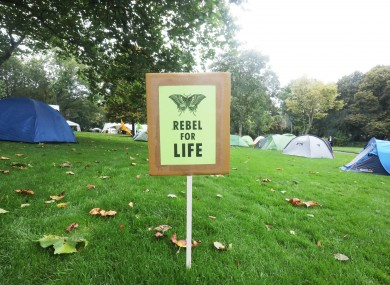 Extinction Rebellion: camped in Merrion Square for a week in October