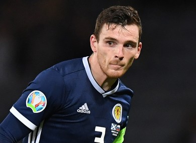 Liverpool and Scotland defender Andy Robertson.