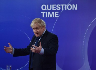 Boris Johnson on BBC's Question Time last Friday.