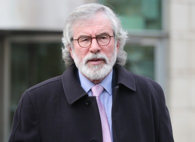 File photo. Gerry Adams.