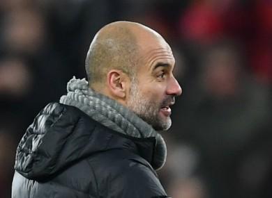 Manchester City coach Pep Guardiola.