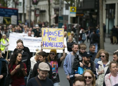 Raise the Roof - Housing Protest earlier this year.