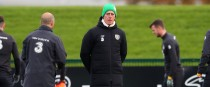Mick McCarthy at Irish training yesterday.