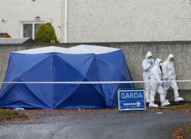 The Garda Technical Bureau at the scene in Lucan