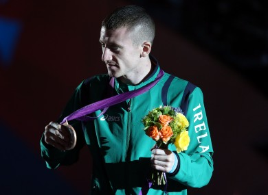Barnes on the podium with his bronze in 2012.