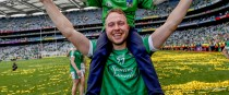 Paul Browne celebrating Limerick's All-Ireland win in 2017.