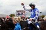 Ruby Walsh celebrates winning the Coral Punchestown Gold Cup on Kemboy, where he then announced his retirement.