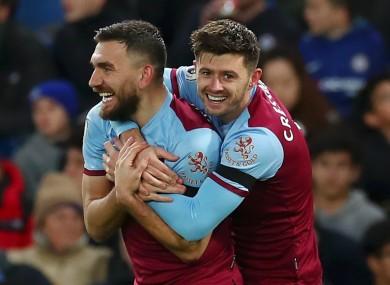 West Ham United's Robert Snodgrass and Aaron Cresswell.