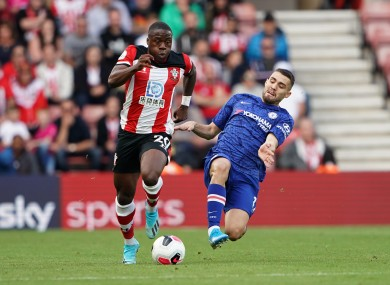 Michael Obafemi (left) in action for Southampton.