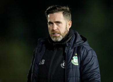 Stephen Bradley is hoping to guide Shamrock Rovers to their first FAI Cup success since 1987.