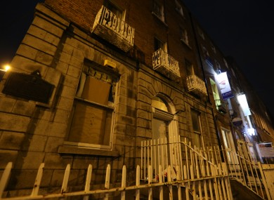 34 North Frederick Street shortly after it was occupied by protesters