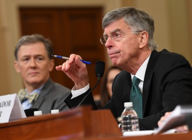 William Taylor, the acting Ambassador to Ukraine testifies during the House House Intelligence Committee Impeachment Hearings.