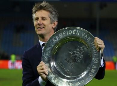 Ajax chief Edwin van der Sar.