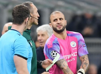 Kyle Walker came on as an emergency goalkeeper for Man City
