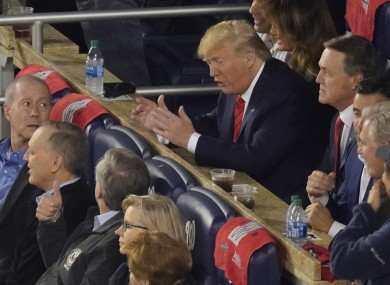 Donald Trump during Game 5 of the World Series in Washington.
