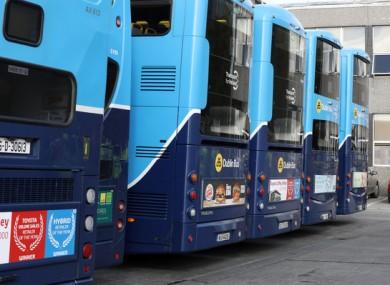 File photo of Dublin buses.