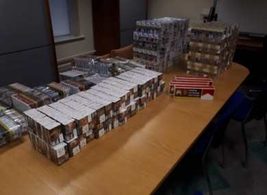 Gardaí have seized 34,000 illegally imported cigarettes