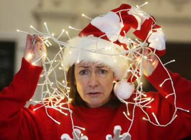 File photo - Actress Pauline McLynn dressed in Christmas lights and hats at a Simon Communities launch