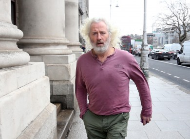 Mick Wallace TD arriving at the High Court.