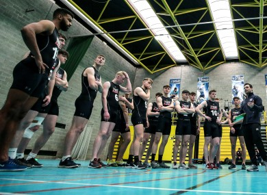 Participants at the AFL Combine in UCD.