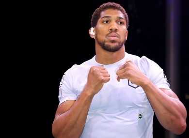 Anthony Joshua at his open workout in Riyadh