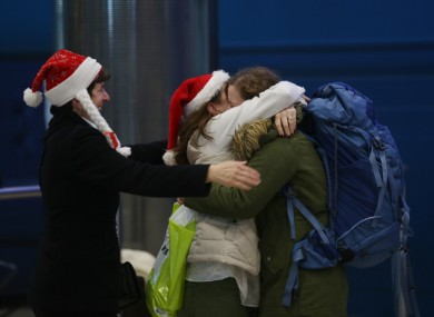 A Christmas homecoming in Dublin Airport last year.