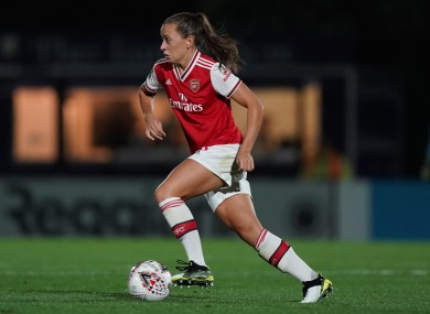 Wednesday night hat-trick: McCabe on song for Arsenal (file photo).