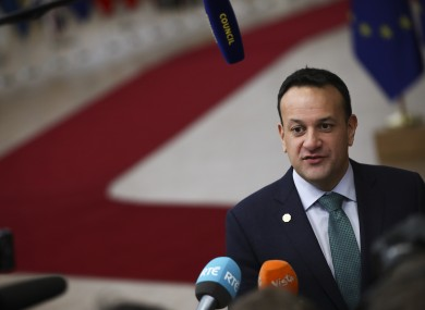 Varadkar says the political landscape in the North has shifted in the last few elections.