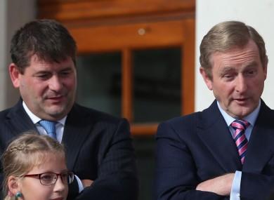 Dara Murphy with former Taoiseach Enda Kenny in 2014.