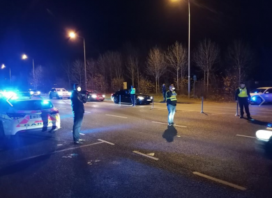 Gardaí carried out checkpoints in recent days