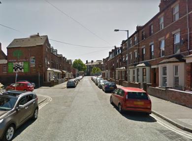 Atlantic Avenue in Belfast, where the aggravated burglary took place.