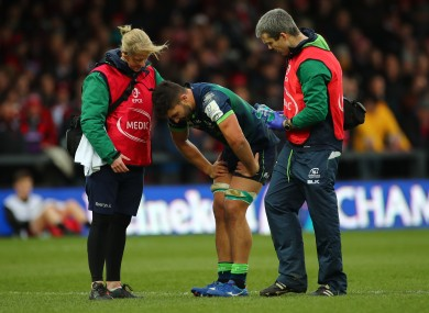 Connacht's Colby Fainga'a sustained the injury against Gloucester last weekend.