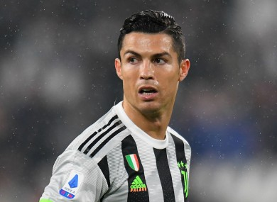 Cristiano Ronaldo pictured competing for Juventus.