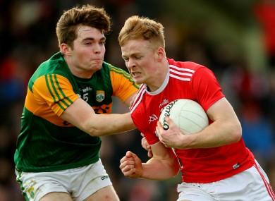 Cork's Damien Gore against Kerry's Dan McCarthy.